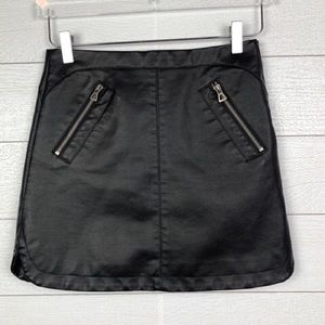 Silence + Noise Urban Outfitters Leather Skirt